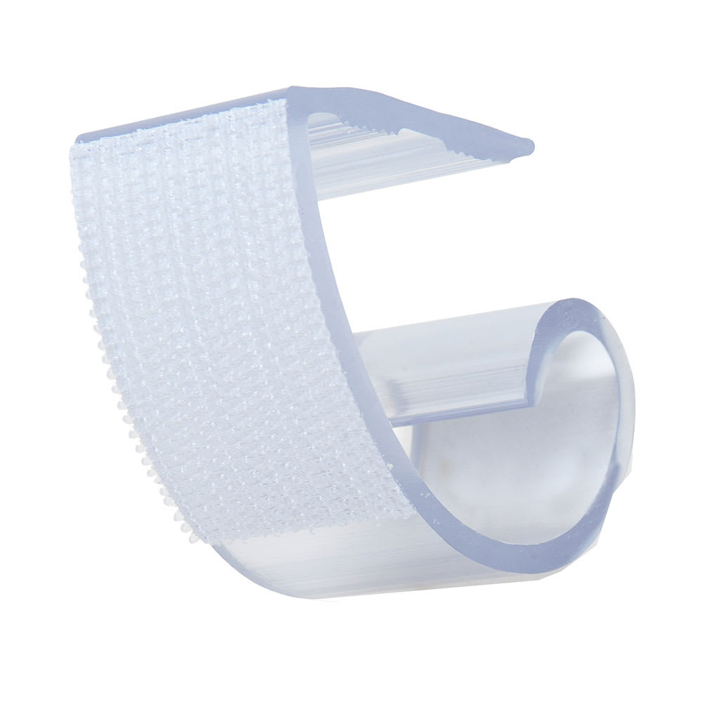 """Marko 5CCLCLIP-12 1"""" Skirting Clip w/ Velcro - Fits 1-1/2"""" to 2-1/2"""" Table Edges, Plastic"""