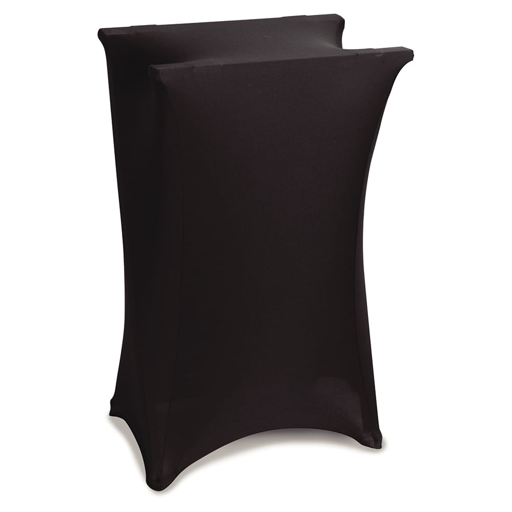 "Marko EMB5026LTRC014 Embrace™ Tray Stand Cover for over 30""H, Polyester, Black"