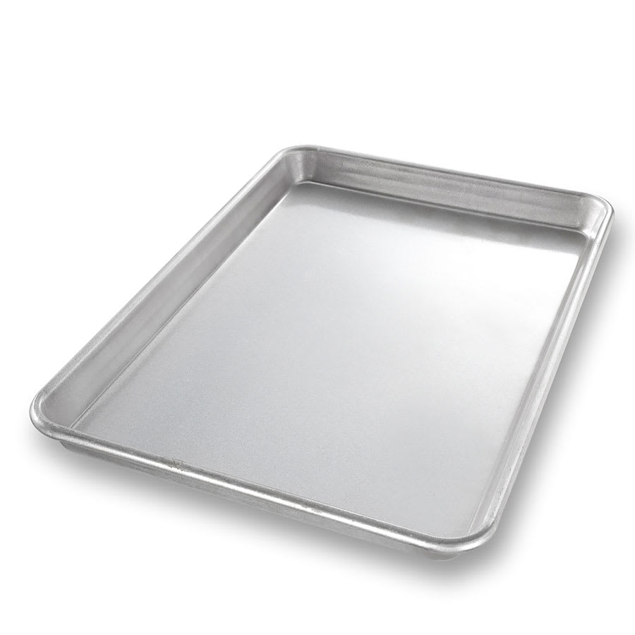 "Chicago Metallic 20700 Jelly Roll Pan, 9.8"" x 14.75"" x 1"", AMERICOAT Glazed 22-ga. Aluminized Steel"