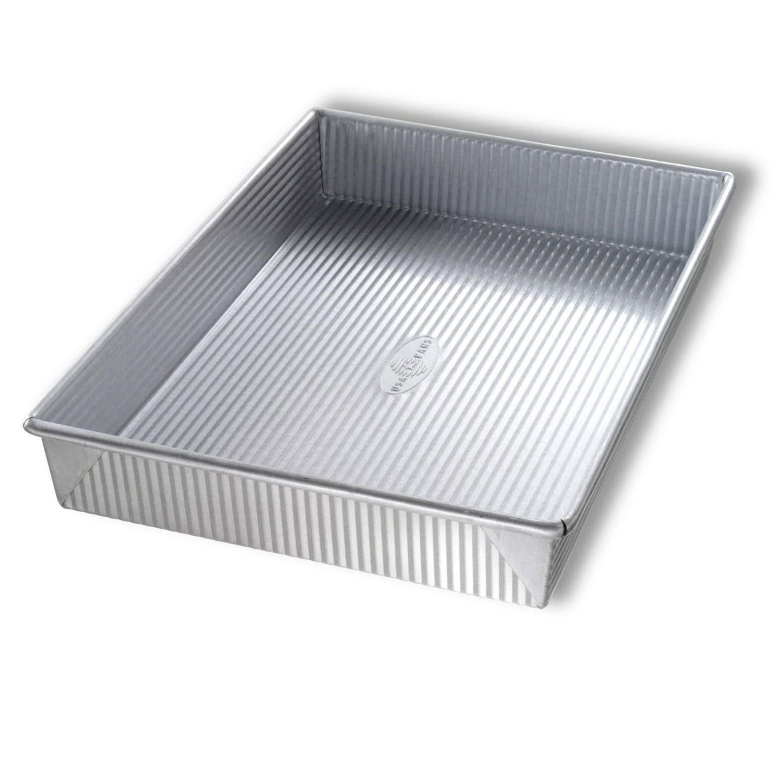 "Chicago Metallic 21100 Cake Pan, 9.56"" x 13.56"" x 2"", AMERICOAT Glazed 22 ga. Aluminized Steel"