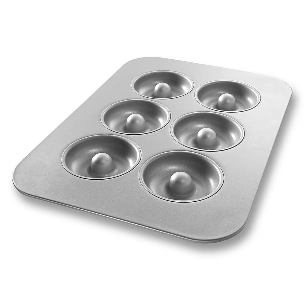 "Chicago Metallic 25200 6 Section Donut Pan - 11.13"" x 15.75"", Aluminized Steel"