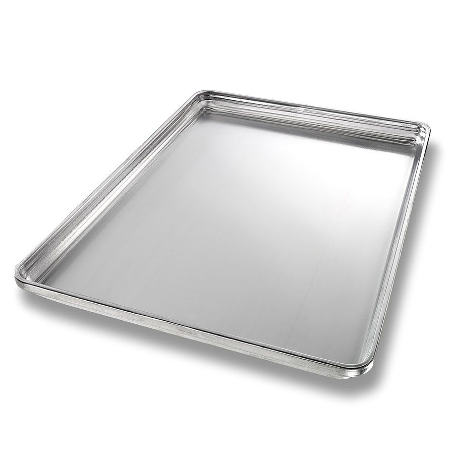 "Chicago Metallic 30850 Half-size Sheet Pan, 1"" Deep, StayFlat, Non-coated 18-ga. Aluminum"