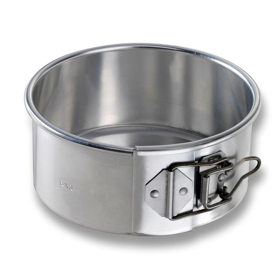 "Chicago Metallic 40406 Springform Cake Pan, 6"" Dia., 2.75"" Deep, Non-coated 20-ga. Aluminum"