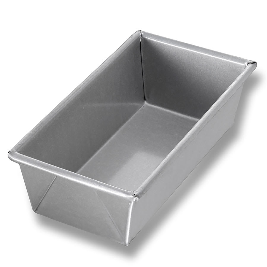 "Chicago Metallic 40421 Individual Bread Pan, 8.5"" x 4.5"" x 2.69"", Non-coated 26-ga. Aluminized Steel"