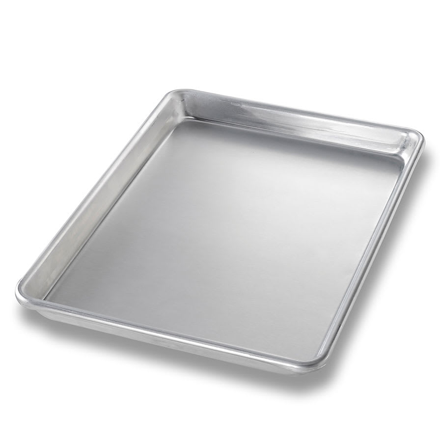 "Chicago Metallic 40450 Quarter-size Sheet Pan, 1.06"" Deep, Non-coated 16 ga. Aluminum"