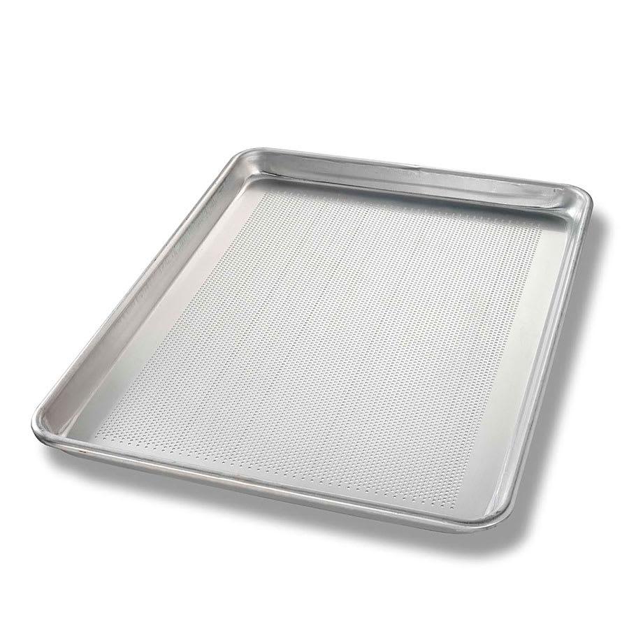 "Chicago Metallic 40851 Half-size Sheet Pan, Perforated Bottom, 0.97"" Deep, AMERICOAT Glazed 18 ga. Aluminum"