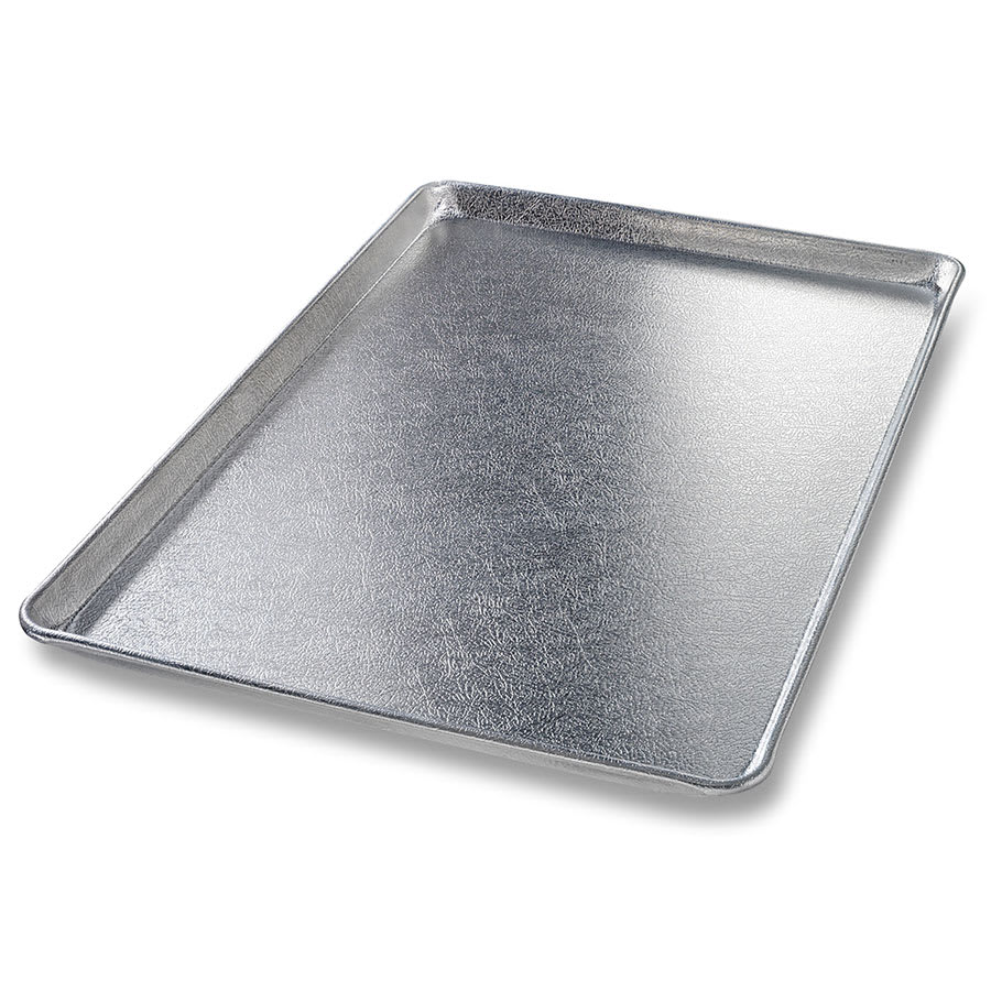 "Chicago Metallic 40917 Full-Size Display Pan, 1.09"" Deep, Silver Finish, 16-ga. Anodized Aluminum"