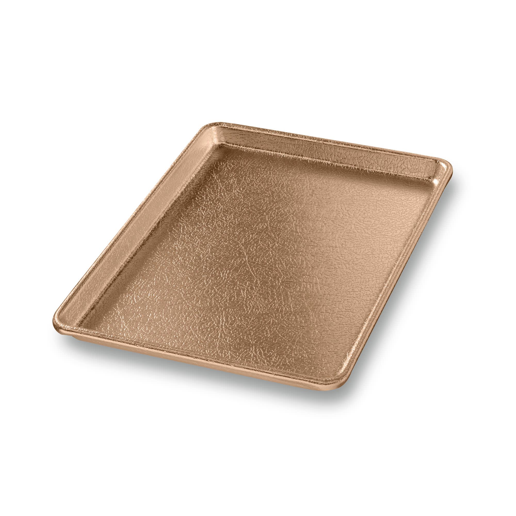 "Chicago Metallic 40940 Display Pan, 9.44"" x 12.9"" x 0.8"", Gold Finish, 16-ga. Anodized Aluminum"