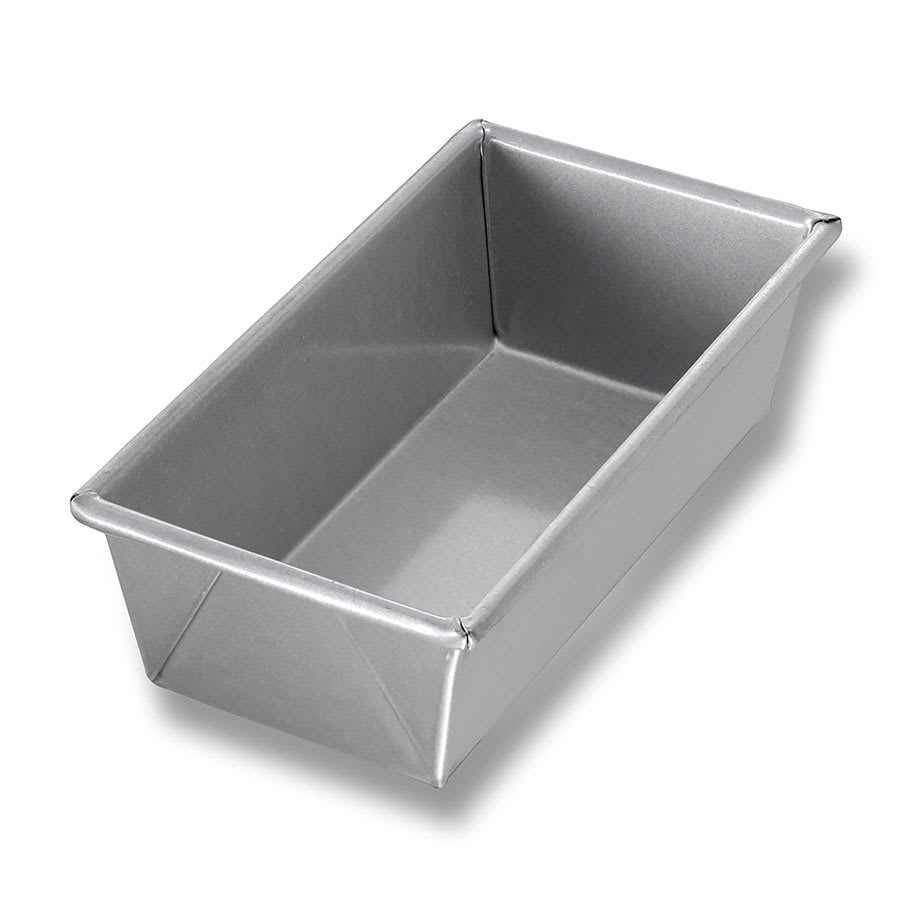 "Chicago Metallic 41065 Individual Bread Pan, 8"" x 4"" x 2.5"", AMERICOAT Glazed 26-ga. Aluminized Steel"