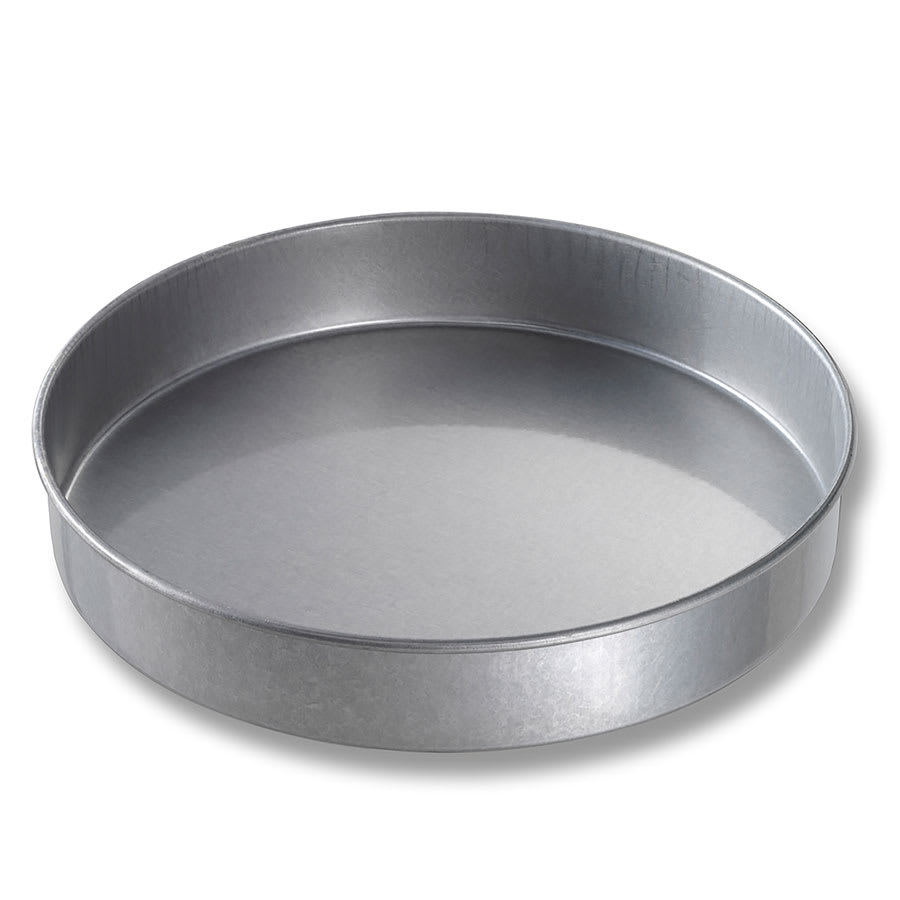 "Chicago Metallic 41220 Cake Pan, 12"" Dia., 2"" Deep, Non-coated 26-ga. Aluminized Steel"