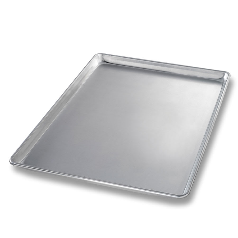 "Chicago Metallic 41500 Three-quarter-size Sheet Pan, 1"" Deep, Non-coated 18 ga. Aluminum"