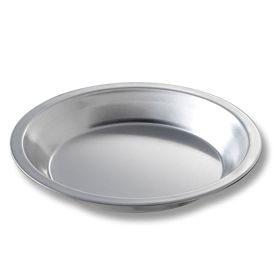"Chicago Metallic 41509 Pie Plate, 7.94"" Dia., 1.16"" Deep, Non-coated 0.011"" Aluminum"