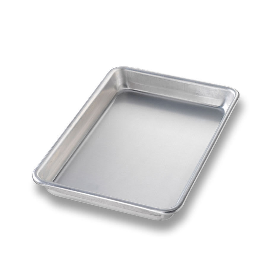 "Chicago Metallic 41800 Eighth-size Sheet Pan, 0.03"" Deep, Non-coated 16-ga. Aluminum"