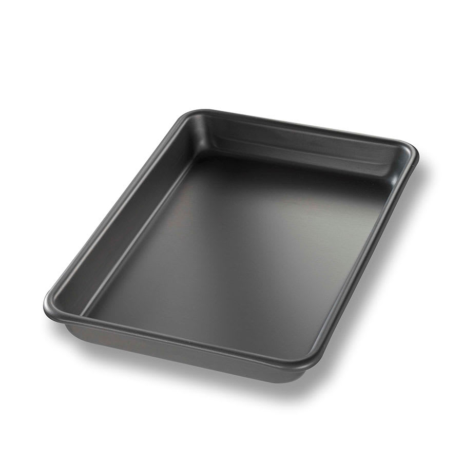 "Chicago Metallic 41852 Eighth-size Sheet Pan, 0.03"" Deep, BAKALON, Non-coated 16-ga. Anodized Aluminum"