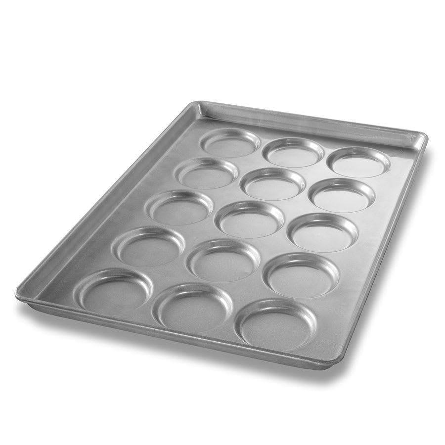 "Chicago Metallic 42425 Burger Bun Pan, ePAN, Makes (15) 4.1"" Rounds, AMERICOAT Glazed 26-ga. Aluminized Steel"