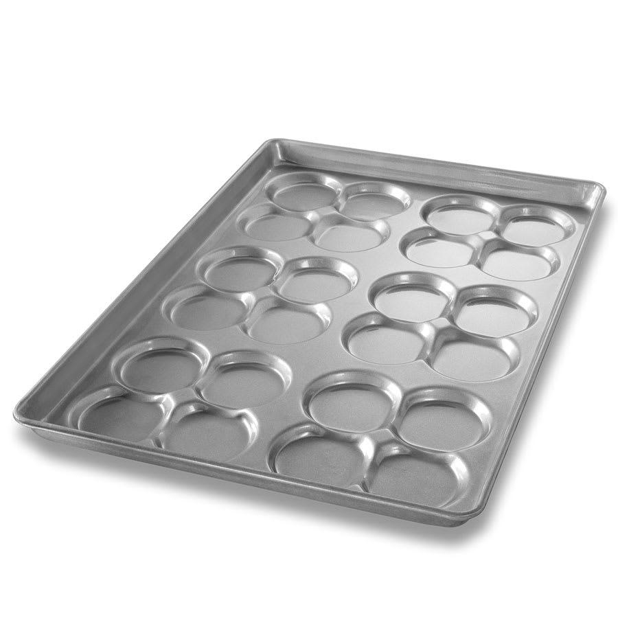Chicago Metallic 42445 Cluster Hamburger Bun Pan, 6-Clusters of 4