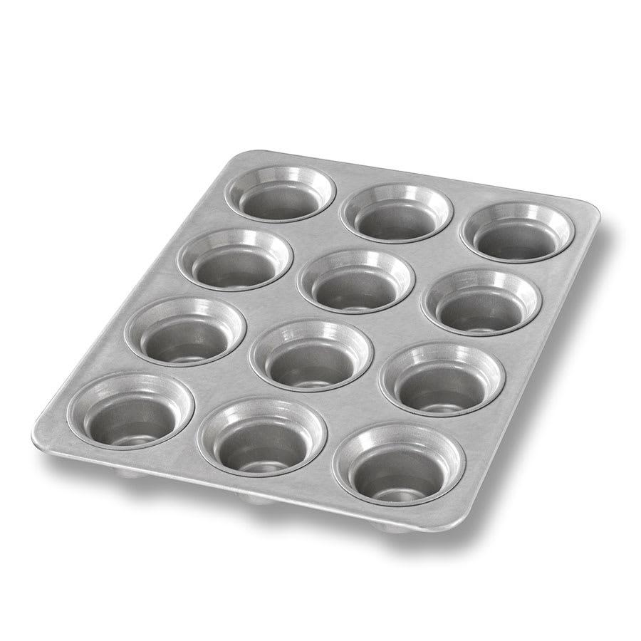 "Chicago Metallic 42754 Mini Crown Muffin Pan, Makes (12) 2.75"" Muffins, AMERICOAT Glazed 26-ga. Aluminized Steel"