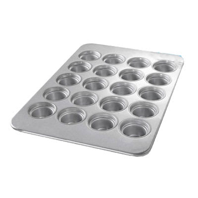 Chicago Metallic 44555 Large Crown Muffin Pan, (20) 7.3-oz, Aluminized Steel
