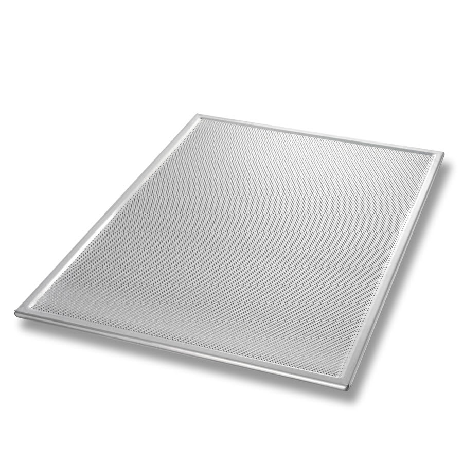 "Chicago Metallic 44800 1/1 Full Size Bun / Sheet Pan - 26"" x 18"" x 1"", 16 gauge Aluminum, Perforated, AMERICOAT®"