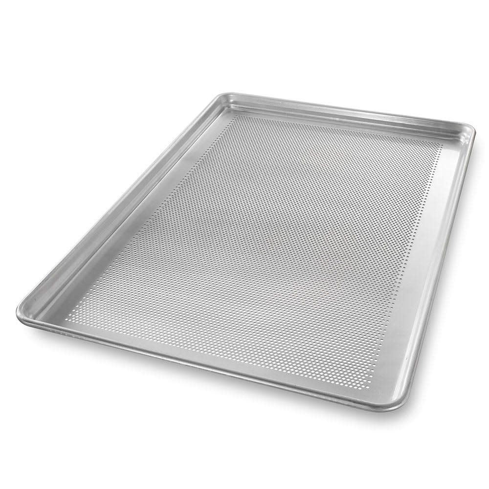 "Chicago Metallic 44891 Full-size Sheet Pan, StayFlat, 1"" Deep, Perforated, Non-coated 18 ga. Aluminum"