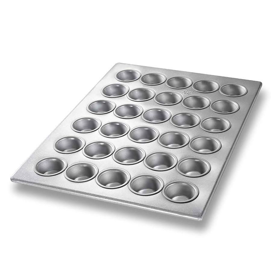 "Chicago Metallic 45195 Mini Muffin Pan, Makes (30) 1.88"" Muffins, AMERICOAT Glazed 22-ga. Aluminized Steel"