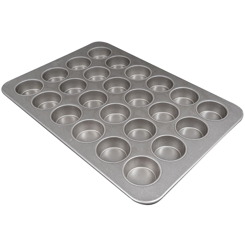 "Chicago Metallic 45285 Jumbo Muffin Pan, Makes (24) 3.37"" Muffins, AMERICOAT Glazed 26 ga. Aluminized Steel"