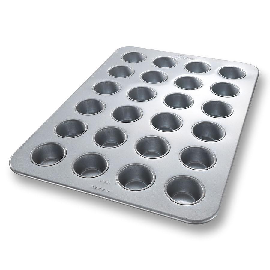 "Chicago Metallic 45605 Cupcake/Muffin Pan, Makes (24) 2.75"" Muffins, AMERICOAT Glazed 26 ga. Aluminized Steel"
