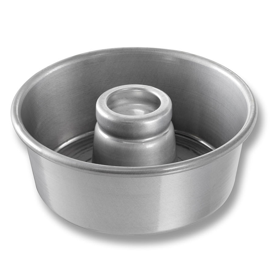 "Chicago Metallic 46530 Angel Food/Tube Cake Pan, 7.5"" Dia., 3.06"" Deep, Non-coated 15-ga. Aluminum"