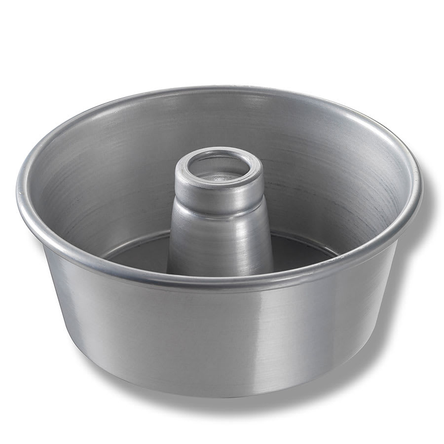 "Chicago Metallic 46540 Angel Food/Tube Cake Pan, 9.25"" Dia., 4"" Deep, Non-coated 15 ga. Aluminum"