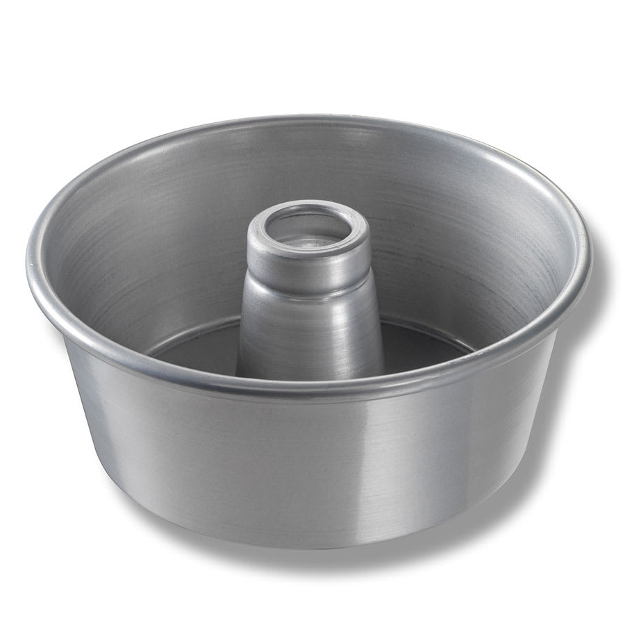 "Chicago Metallic 46545 Angel Food/Tube Cake Pan, 9.25"" Dia., 4"" Deep, AMERICOAT Glazed 15-ga. Aluminum"