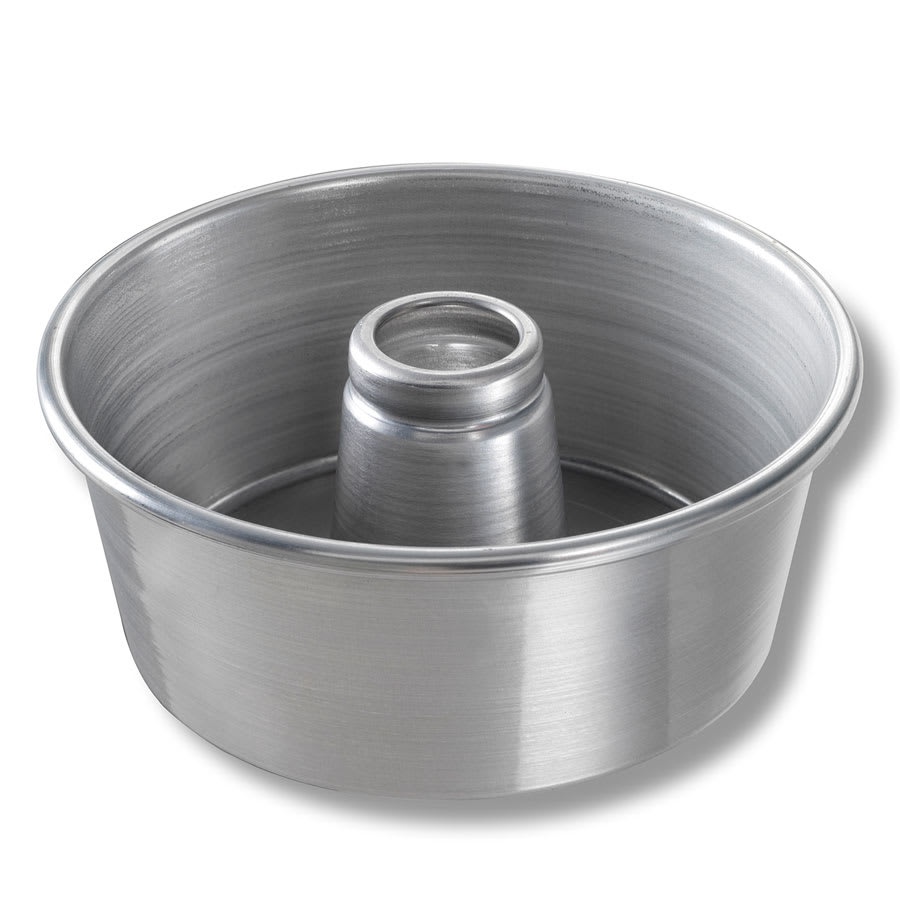 "Chicago Metallic 46555 Angel Food/Tube Cake Pan, 9.25"" Dia., 4"" Deep, AMERICOAT Glazed 15-ga. Aluminum"