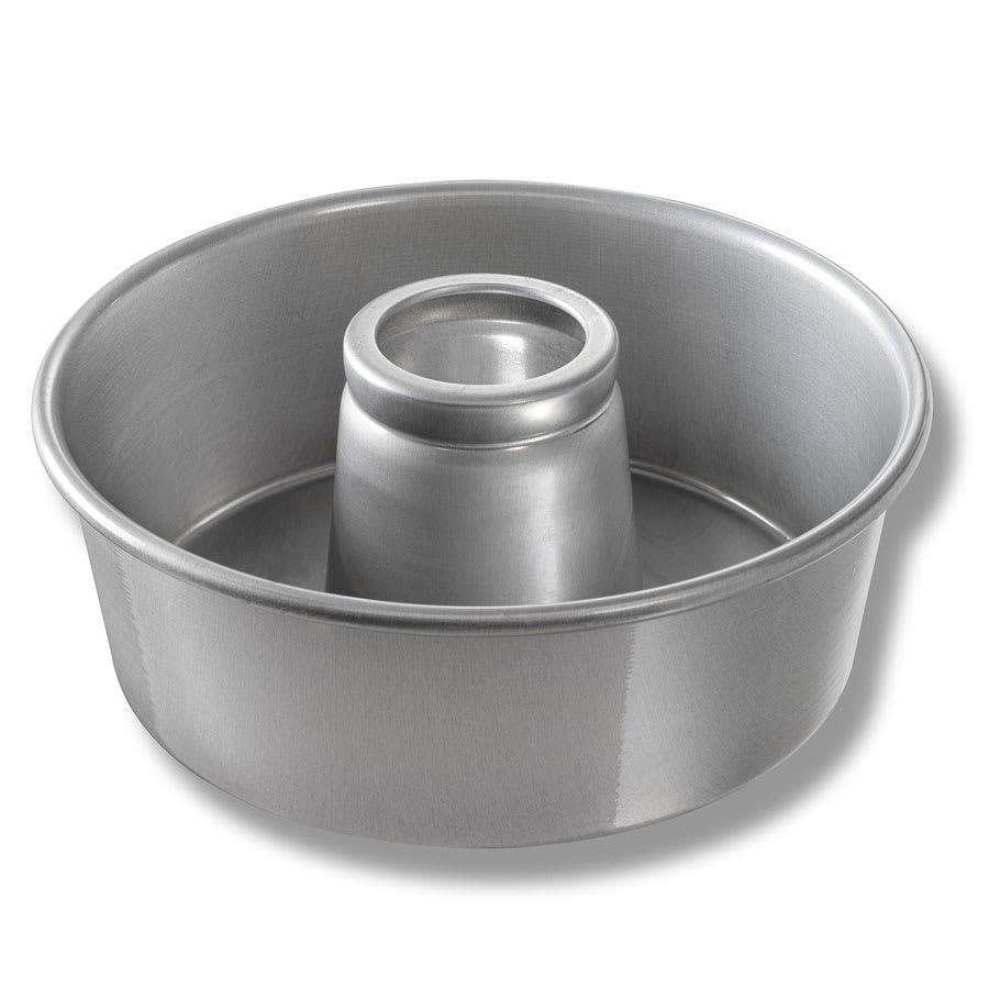"Chicago Metallic 46560 Angel Food/Tube Cake Pan, 10"" Dia., 3.75"" Deep, Non-coated 15-ga. Aluminum"