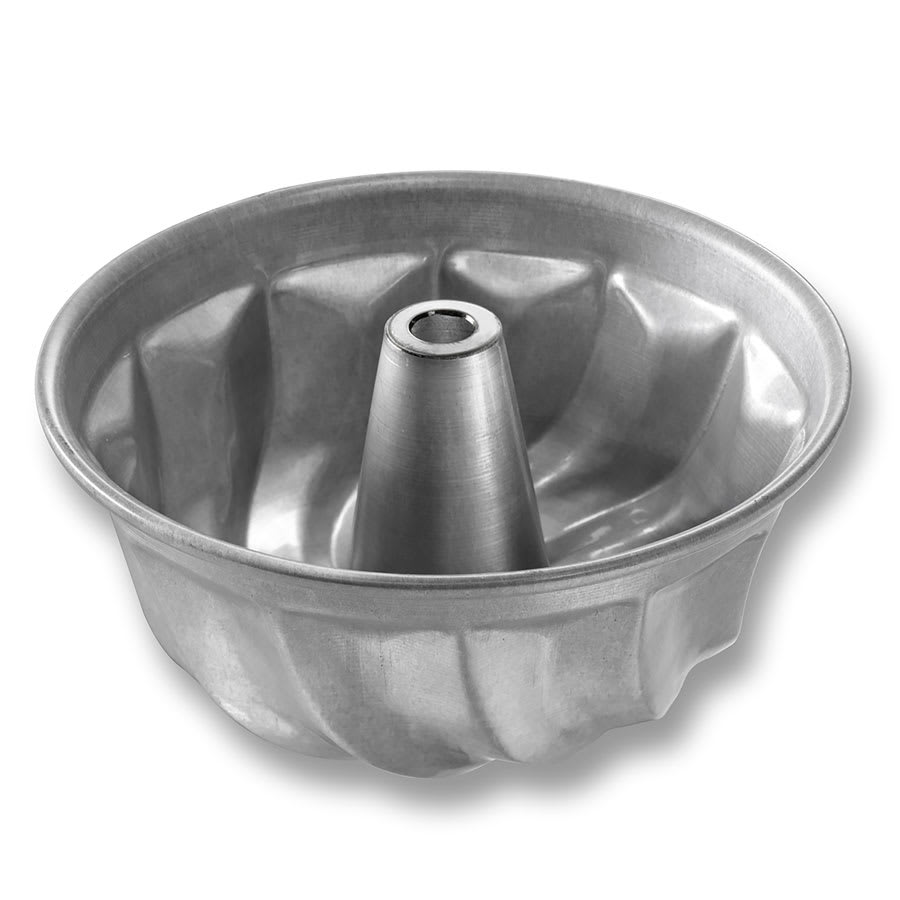 "Chicago Metallic 47605 Turkshead Cake Pan, 6.5"" Dia., 2.94"" Deep, Fluted, AMERICOAT Glazed 0.06"" Aluminum"