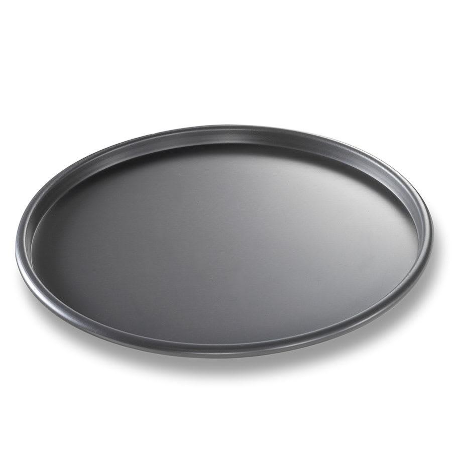 "Chicago Metallic 49100 10"" Thin Crust Pizza Pan, 0.5"" Deep, BAKALON Non-coated 14-ga. Aluminum"