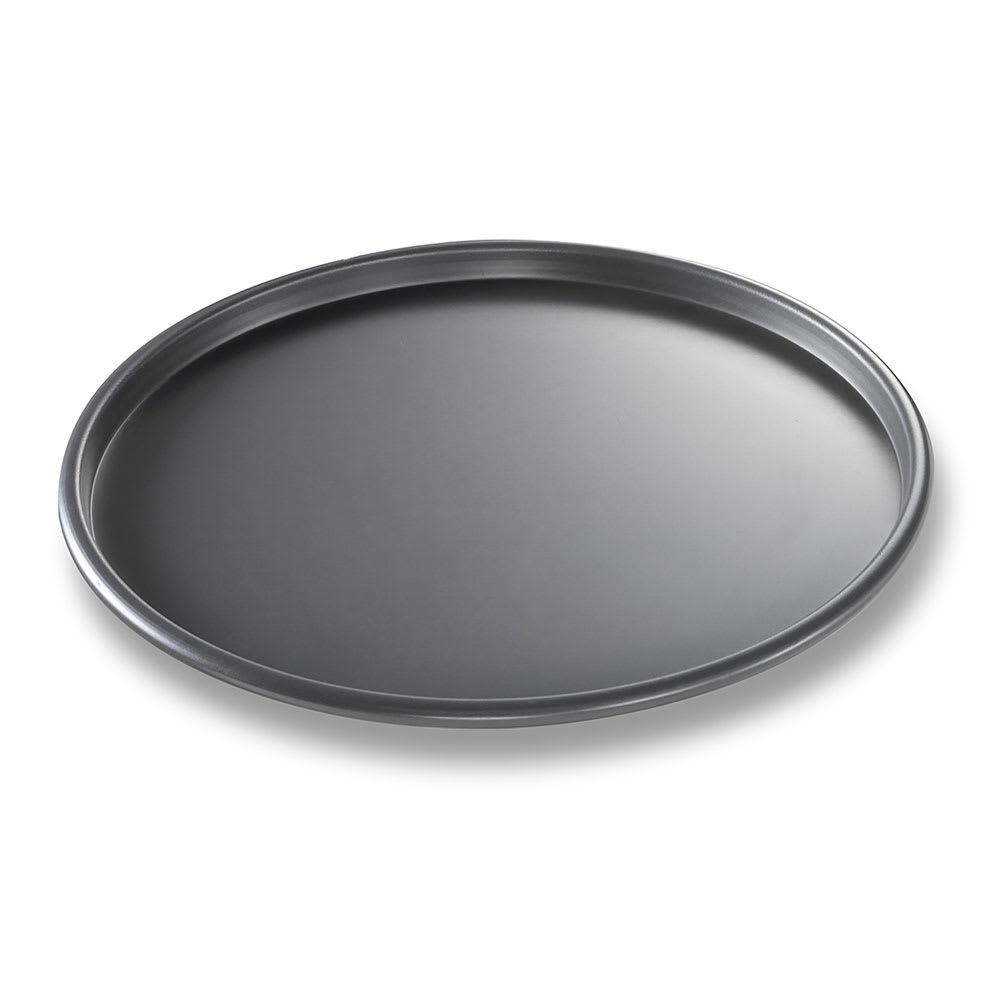 "Chicago Metallic 49103 10"" Thin Crust Pizza Pan, BAKALON, 0.5"" Deep, AMERICOAT Glazed 14 ga. Aluminum"