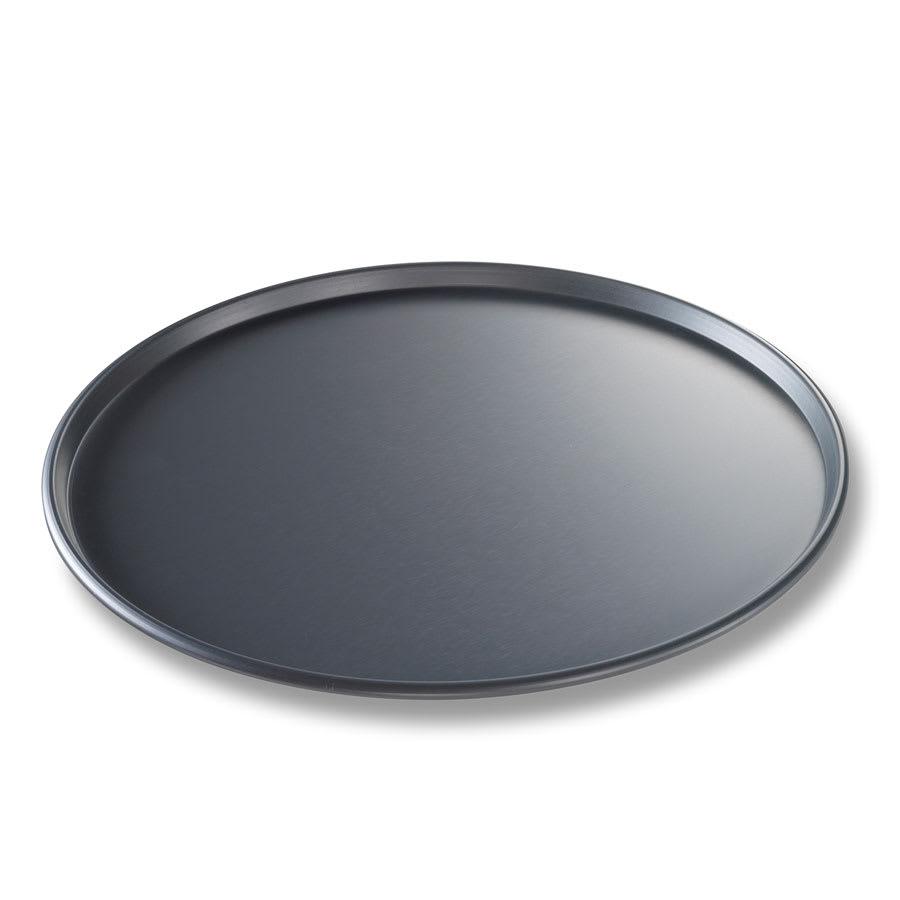"Chicago Metallic 49140 14"" Thin Crust Pizza Pan, BAKALON, 0.5"" Deep, Non-coated 14-ga. Anodized Aluminum"