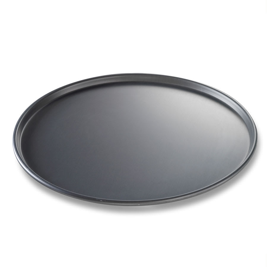 "Chicago Metallic 49160 16"" Thin Crust Pizza Pan, BAKALON, 0.5"" Deep, Non-coated 14-ga. Anodized Aluminum"