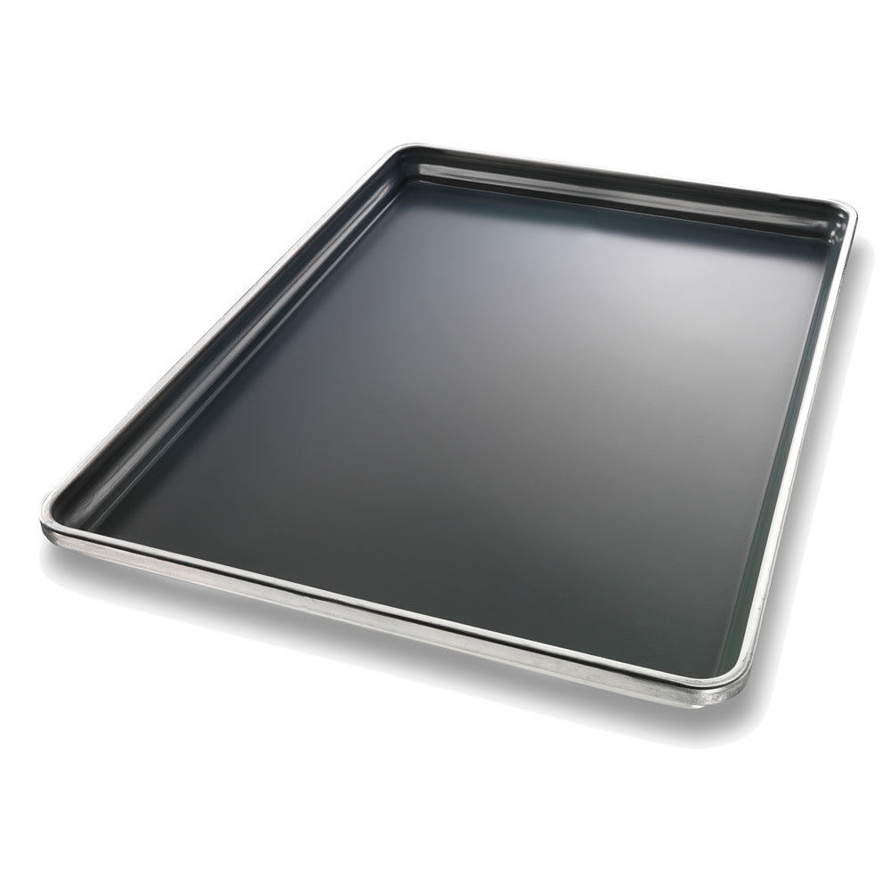 "Chicago Metallic 50801 Full-size Sheet Pan, StayFlat, 1"" Deep, DuraShield Coated 18-ga. Aluminum"