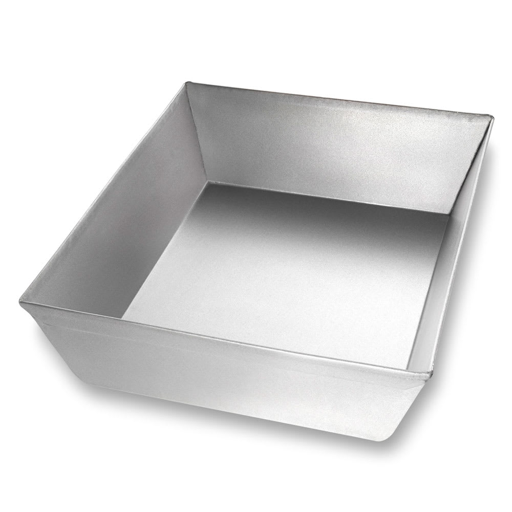 "Chicago Metallic 90810 Rectangular Pizza Pan, 8.1"" x 10.25"" x 2.5"", Non-coated 22-ga. Aluminized Steel"
