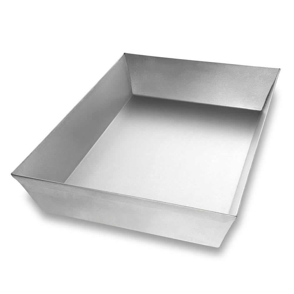 "Chicago Metallic 91014 Rectangular Pizza Pan, 10.1"" x 14.25"" x 2.5"", Non-coated 22-ga. Aluminized Steel"