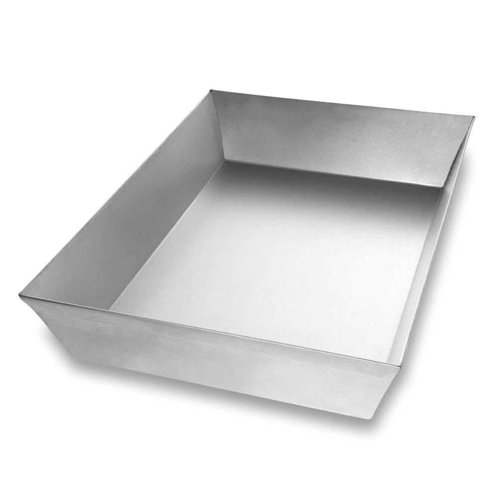 "Chicago Metallic 91015 Rectangular Pizza Pan, 10.1"" x 14.25"" x 2.5"", AMERICOAT Glazed 22 ga. Aluminized Steel"