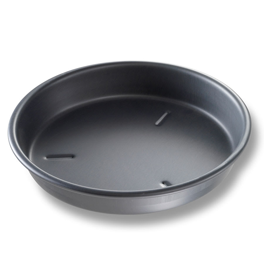 "Chicago Metallic 91100 10"" Deep Dish Pizza, BAKALON, 1.5"" Deep, Non-coated 14 ga. Anodized Aluminum"
