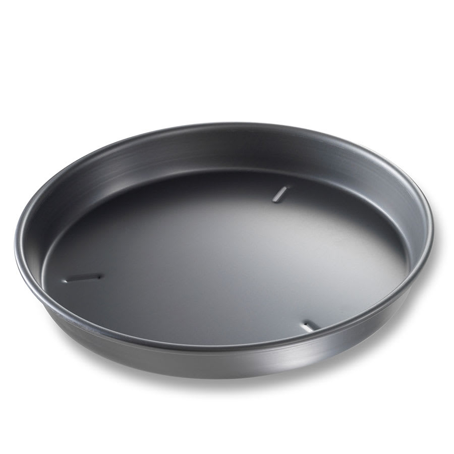 "Chicago Metallic 91120 12"" Deep Dish Pizza Pan, BAKALON, 1.5"" Deep, Non-coated 14-ga. Anodized Aluminum"