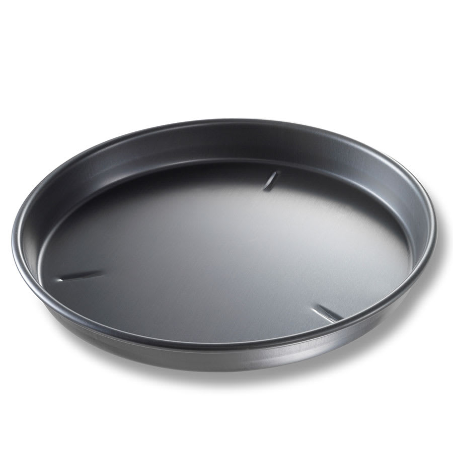 "Chicago Metallic 91130 13"" Deep Dish Pan, BAKALON, 1.5"" Deep, Non-coated 14 ga. Anodized Aluminum"