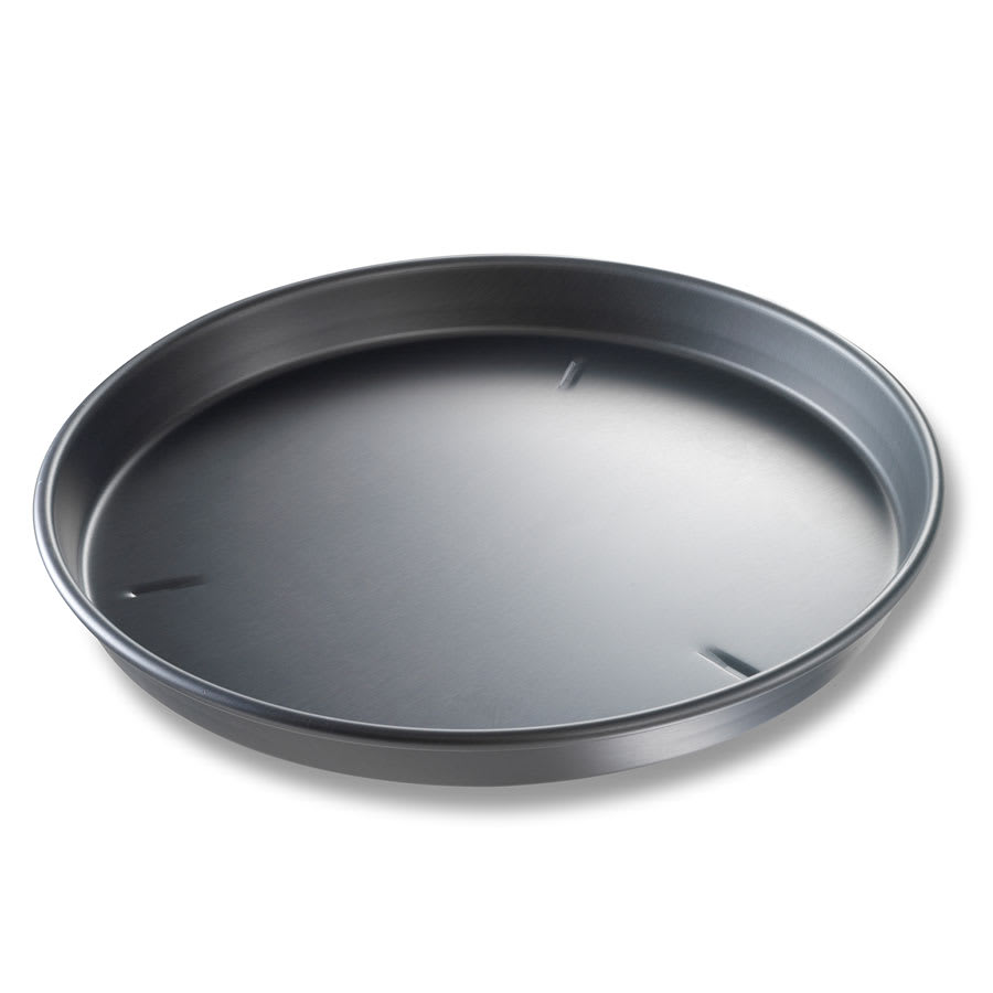 "Chicago Metallic 91160 16"" Deep Dish Pizza, BAKALON, 1.5"" Deep, Non-coated 14-ga. Anodized Aluminum"