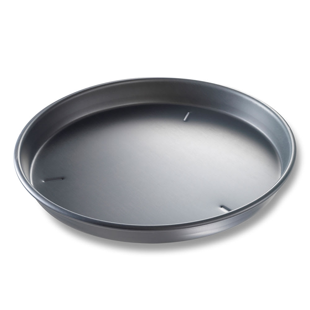 "Chicago Metallic 91165 16"" Deep Dish Pizza Pan, BAKALON, 1.5"" Deep, AMERICOAT Glazed 14 ga. Anodized Aluminum"