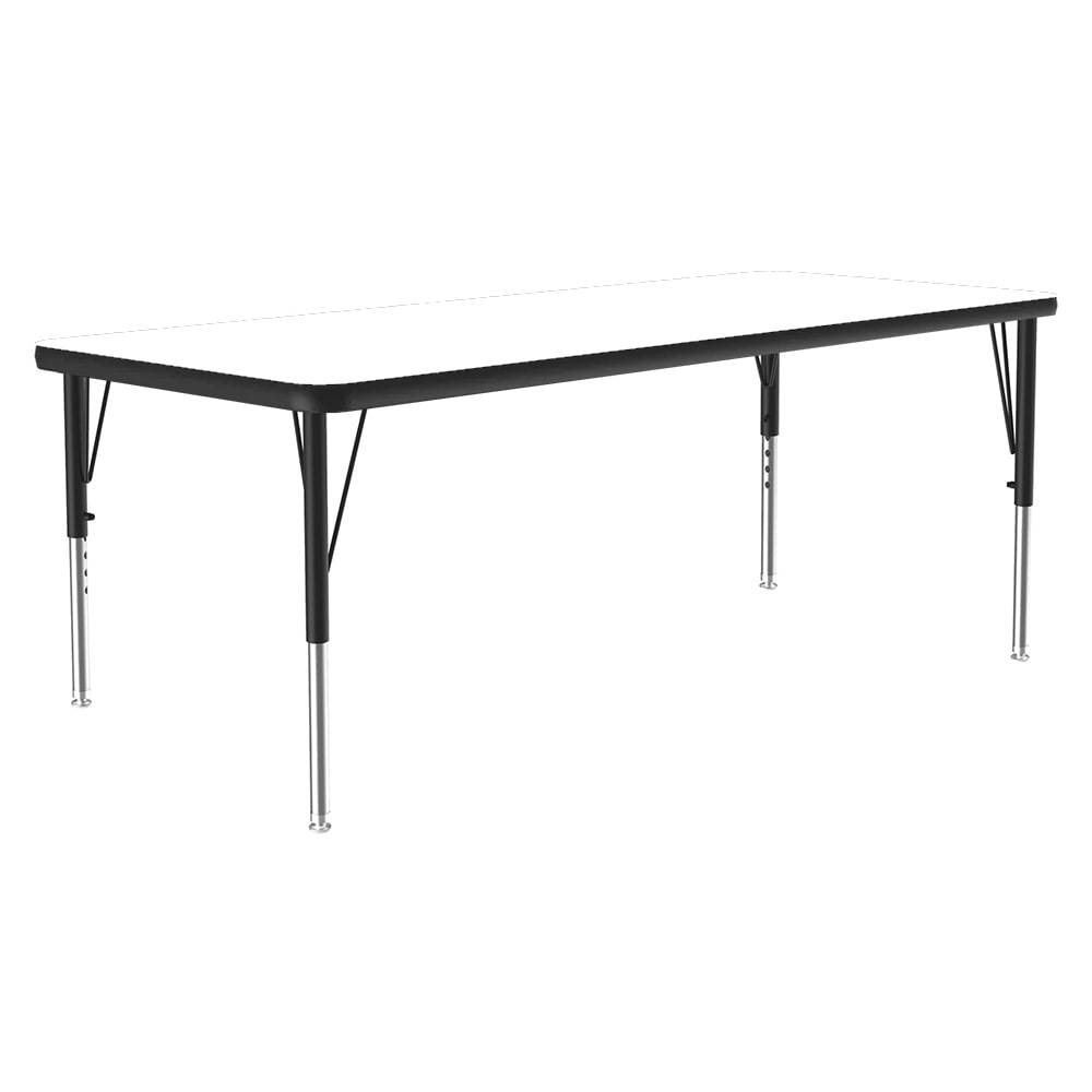 """Correll A2448-REC 36 Activity Table w/ 1.25"""" High Pressure Top, 24 x 48"""", White"""