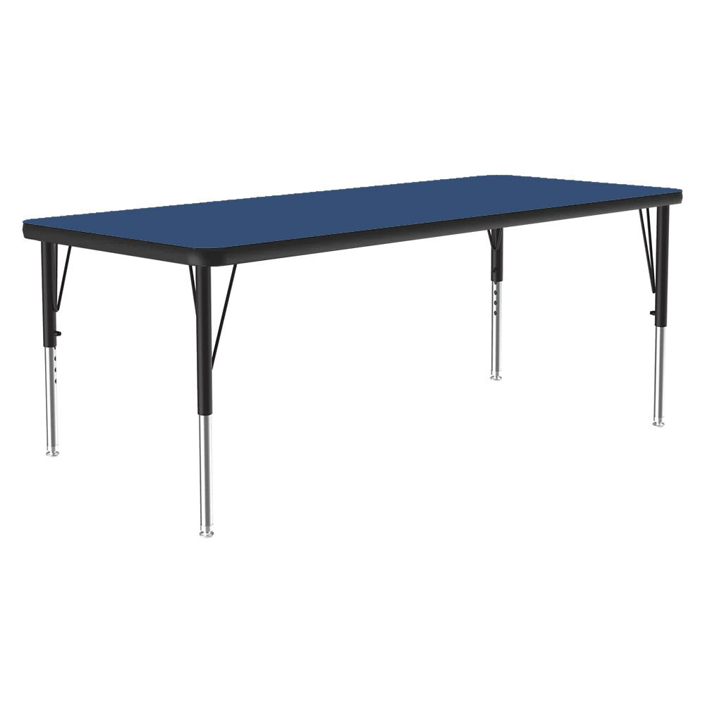 "Correll A2448-REC 37 Activity Table w/ 1.25"" High Pressure Top, 48""W x 24""D, Blue"
