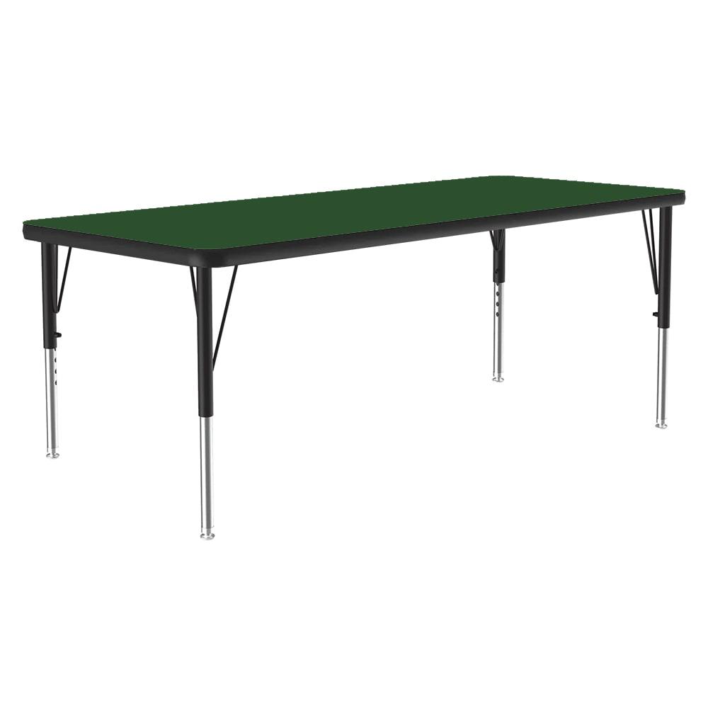 "Correll A2448-REC 39 Activity Table w/ 1.25"" High Pressure Top, 24 x 48"", Green"