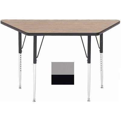 "Correll A2448-TRP 13 Activity Table w/ 1.25"" High Pressure Top, 24 x 24 x 48"", Dove Gray"
